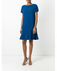 Stella McCartney | Blue Godet Hem Dress | Lyst