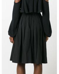 Blumarine   Black Pleated A-line Skirt   Lyst