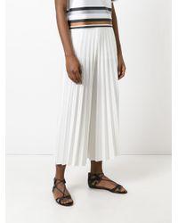 Blugirl Blumarine | White Pleated Cropped Trousers | Lyst