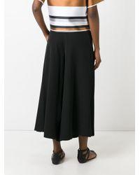 Blugirl Blumarine | Black Pleated Cropped Trousers | Lyst