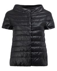Herno | Black Glossy Quilted Jacket | Lyst