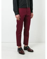 Dolce & Gabbana - Red Classic Chinos for Men - Lyst