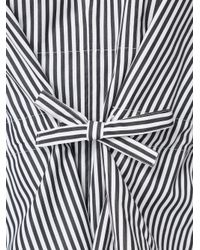 Maison Rabih Kayrouz - Black - Striped Wide Sleeve Blouse - Women - Cotton - 36 - Lyst