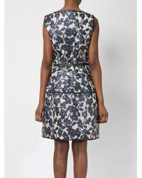 Oscar de la Renta   Black Floral Pattern Dress   Lyst