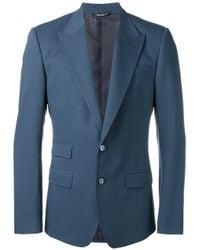 Dolce & Gabbana - Blue Fitted Blazer for Men - Lyst