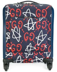 Gucci | Blue - Ghost Carry-on Luggage - Women - Cotton/calf Leather - One Size | Lyst