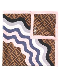 Fendi | Multicolor Ff Logo Scarf | Lyst