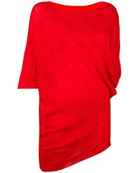 Issey Miyake | Red Woven Jumper | Lyst