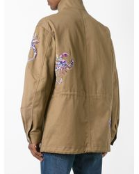 Diesel Black Gold - Green Scorpion Embroidered Coat for Men - Lyst