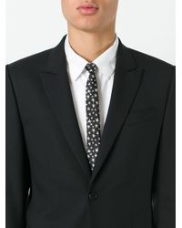 Saint Laurent   Black Signature Star Skinny Tie for Men   Lyst