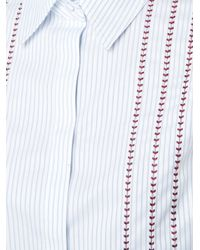 Gabriela Hearst - Blue Stitched Detail Shirt - Lyst