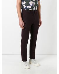 Marni - Red Slim Fit Trousers for Men - Lyst