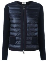 Moncler - Blue Padded Front Jacket - Lyst