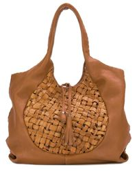 Henry Beguelin | Brown Woven Shoulder Bag | Lyst