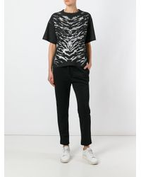 Golden Goose Deluxe Brand - Black Zebra Print T-shirt - Lyst