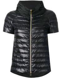 Herno | Black Shortsleeved Puffer Jacket | Lyst