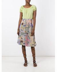 Etro | Multicolor Multi Printed Skirt | Lyst