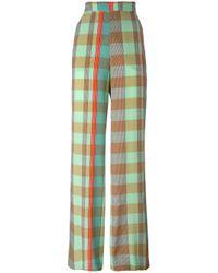Etro | Multicolor - Checked Trousers - Women - Silk - 42 | Lyst