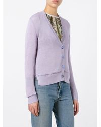 Etro - Purple Button Up Cardigan - Lyst