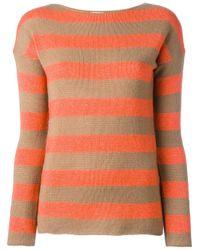 Etro | Orange Striped Jumper | Lyst