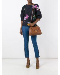 Etro   Black Floral Print Blouse   Lyst