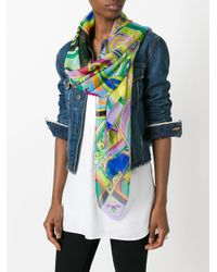 Etro | Multicolor Abstract Print Scarf | Lyst