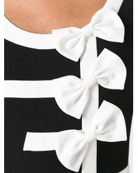 Boutique Moschino - Black Bow Detail Fitted Dress - Lyst