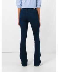Twin Set - Blue Stretch Flared Jeans - Lyst