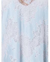 Carven | Blue Flared Lace Dress | Lyst