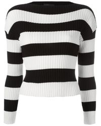 Boutique Moschino | Black Striped Jumper | Lyst