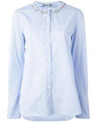 Ermanno Scervino | Blue Embellished Collar Shirt | Lyst