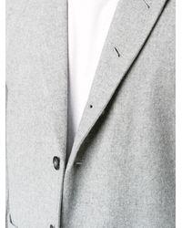 Lot78 | Gray Single Breasted Blazer for Men | Lyst