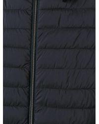 Herno | Blue Banded Collar Down Jacket for Men | Lyst