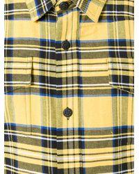 Off-White c/o Virgil Abloh - Yellow Diagonal Spray Check Shirt - Lyst