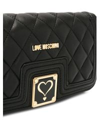 Love Moschino | Black Quilted Clutch | Lyst