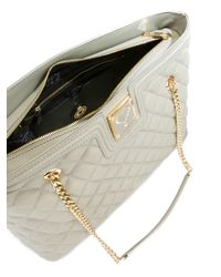 Love Moschino - Gray Quilted Tote - Lyst