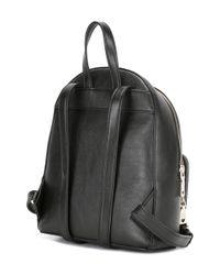 Love Moschino - Black Logo Embossed Backpack - Lyst