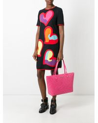 Love Moschino | Pink - Logo Embossed Tote - Women - Polyurethane - One Size | Lyst