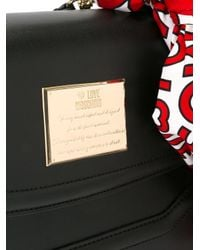 Love Moschino - Black Scarf Detail Tote - Lyst