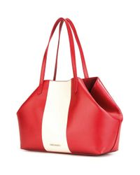 Love Moschino - Red Logo Print Tote - Lyst