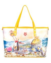 Love Moschino | Yellow Landscape Print Tote | Lyst