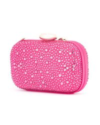 Love Moschino - Pink Embellished Clutch - Lyst