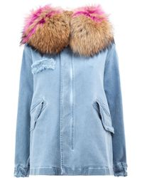 Mr & Mrs Italy | Blue Zipped Denim Coat | Lyst