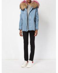 Mr & Mrs Italy - Blue Zipped Denim Coat - Lyst