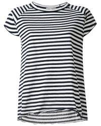 Nili Lotan | Black Striped Blouse | Lyst