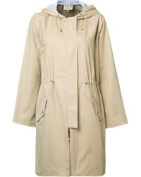 Sea | Natural Drawstring Waist Hooded Coat | Lyst