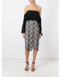 N°21 - Black Macramé Skirt - Lyst