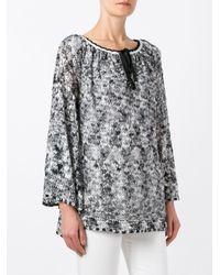 Missoni | Black Round Neck Shift Dress | Lyst