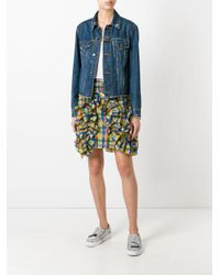 MSGM   Multicolor Checked Ruffled Detail Skirt   Lyst