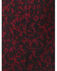 MICHAEL Michael Kors - Black Baroque Jacquard Fitted Dress - Lyst